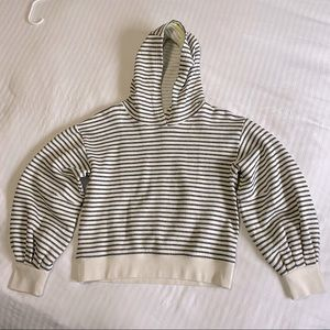 Lou & Grey Striped Hoodie with balloon sleeves